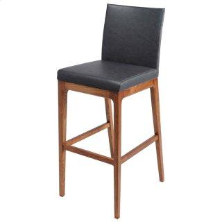 Devon KD PU Bar stool Walnut Legs, Antique Gray