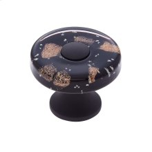 Oil Rubbed Bronze 35 mm Black Flat Round Knob