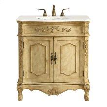 32 in. Single Bathroom Vanity set in Antique Beige