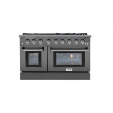 48 Inch Professional Gas Range In Black Stainless Steel