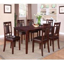 Leg Table, W/6 Chairs
