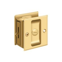 "Pocket Lock, 2 1/2""x 2 3/4"" Privacy - PVD Polished Brass"