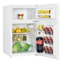 3.1 CF Two Door Counterhigh Refrigerator - White