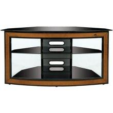 Corner-Fit Cherry Wood Trim Audio/Video System