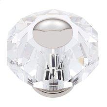 Polished Nickel 60 mm 8-Sided Crystal Knob