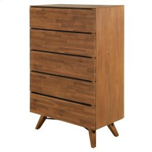 Dartford KD Chest 5 Drawers, Acorn Brown