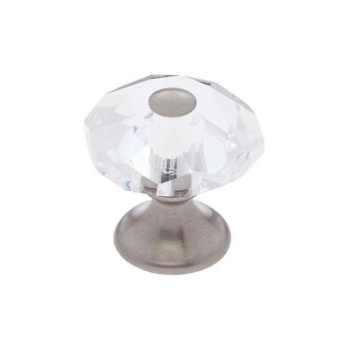 Satin Nickel 28 mm 8-Sided Crystal Knob