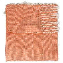 """Throw Sz008 Orange 50"""" X 70"""" Throw Blanket"""