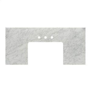"""3cm (1-1/4"""") 49-1/2x23"""" White Carrera (WC) Marble Farmhouse Top Product Image"""