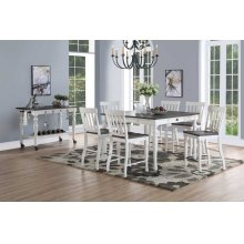 """Joanna Two Tone Counter Table 54""""x36""""x54 w/18"""" Leaf"""