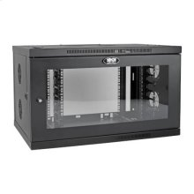 SmartRack 9U Low-Profile Switch-Depth-Plus Wall-Mount Rack Enclosure Cabinet, Wide, Acrylic Window