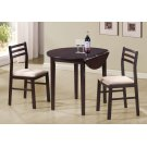 "DINING SET - 3PCS SET / 36""DIA / CAPPUCCINO W/ DROP LEAF Product Image"