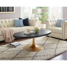Drive Wood Top Coffee Table in Black Gold