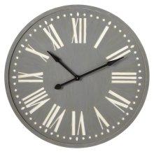 Grey Wall Clock