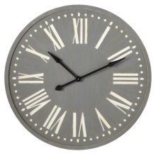Grey Wall Clock