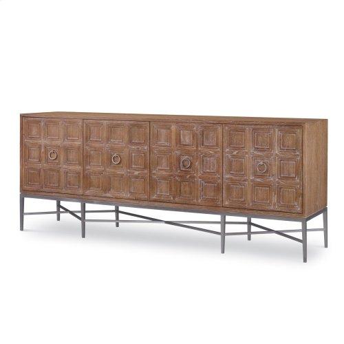Tiered 4 Door Multi-Use Cabinet