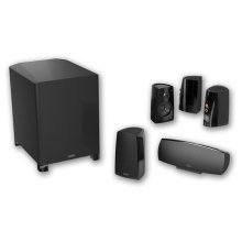 NEW! Six piece, 5.1 channel versatile and compact home theater speaker system