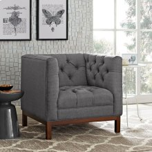 Panache Upholstered Fabric Armchair in Gray