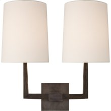 Visual Comfort BBL2084BZ-L Barbara Barry Ojai 2 Light 17 inch Bronze Double Arm Sconce Wall Light, Large