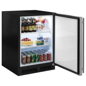 """Marvel 24"""" All Refrigerator - Solid Stainless Steel Door - Right Hinge Product Image"""