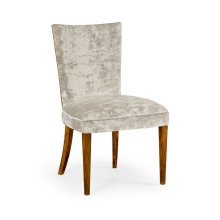 Biedermeier Style Walnut Dining Side Chair (Calico)