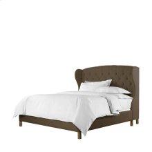 Meredian Wing Queen Bed Brown