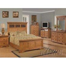 Rustic Oak Finsh Eastern King Bedroom Set