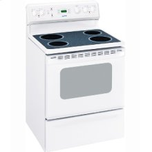 "MCBS585DNWW - White on White Moffat 30"" Free Standing Electric Standard Clean Range"