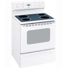 "MCBS585DNWW - White on White Moffat 30"" Free Standing Electric Standard Clean Range"