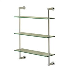 Essentials Three Tier Glass Shelf With Porto Backplates