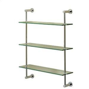 Essentials Three Tier Glass Shelf With Porto Backplates Product Image