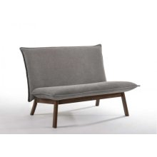Modrest Gardner Modern Grey & Walnut Loveseat