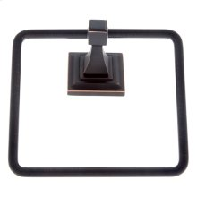 Oil Rubbed Bronze Gradus Square Towel Ring