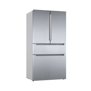 800 Series French Door Bottom Mount Refrigerator Easy clean stainless steel B36CL80ENS Product Image