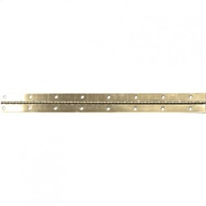 """Polished Brass 1-1/2"""" 21 Gauge Steel Piano Hinge in 6 Foot Lengths Product Image"""