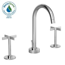 Stoic Widespread Lavatory Faucet - Cross Handles - Polished Chrome