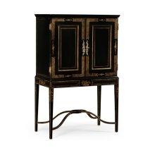 Formal Black & Gold Drinks Cabinet