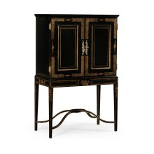 Formal Black & Gold Drinks Cabinet