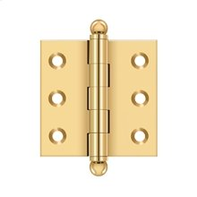"2""x 2"" Hinge, w/ Ball Tips - PVD Polished Brass"