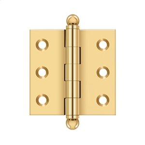"2""x 2"" Hinge, w/ Ball Tips - PVD Polished Brass Product Image"