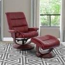 Knight Rouge Manual Reclining Swivel Chair and Ottoman Product Image