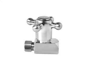 Brass Cross Handle with 1/4 Turn Ceramic Disc Cartridge Valve - Lead Free - Straight - Antique Brass Product Image