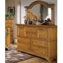 Landscape Mirror With High Dresser