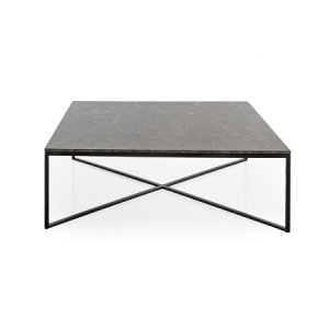 Fiera Black/Brown Marble Square Coffee Table
