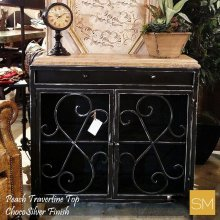 * Travertine Buffet Cabinet 1235 A