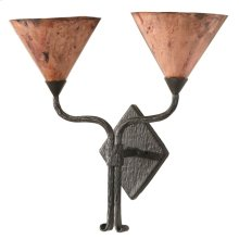 Cedarvale Iron Double Wall Sconce with Copper Shade