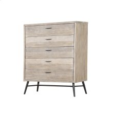 Emerald Home Nova 5 Drawer Chest Sterling Gray Finish With Black Metal Legs B700-05