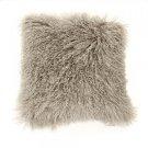 """20"""" x 20"""" Tibetan Light Grey Lamb Fur Pillow Product Image"""