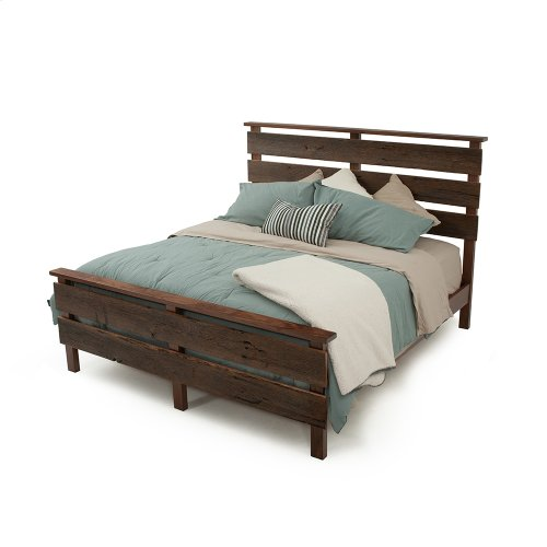 Hillsboro Bed (barnwood or Walnut) - King Bed (walnut)