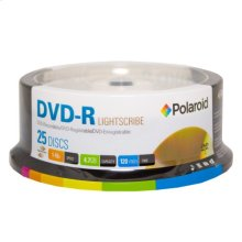 Polaroid Lightscribe DVD-R 4.7GB/120-Minute 16x Recordable DVD Disc PRDVDRLS25S, 25-Pack Spindle